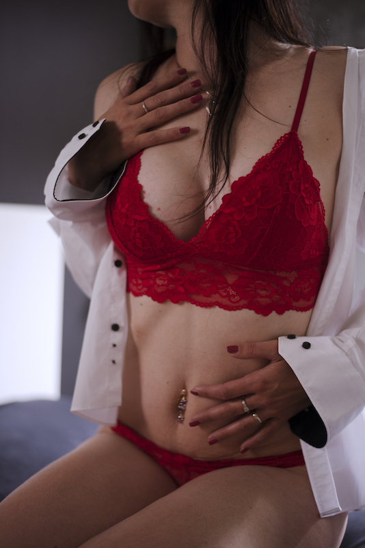 boudoir fotografiranje rdec nedrcek